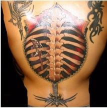 very cool whole body tattoo of back bone picture.JPG