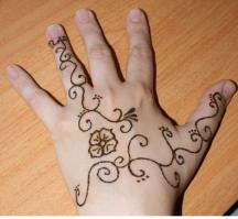 light henna tattoo on the hand picture.JPG