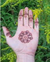 Palm henna tattoos looking very cool photo.JPG