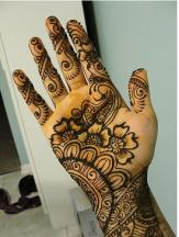 awesome henna tattoos on the palm picture.JPG
