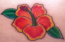 Bright color hawaii flower tattoo pictures.PNG