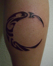 Almost round shape tribal moon tattoo photos.PNG