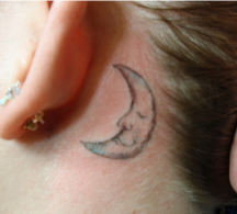 Moon tattoo behind the ear.PNG