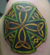 irish cross tattoo