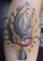 killed bird tatttoo