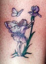 Fairy in the nature tattoo