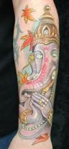 Indian elefant tattoo
