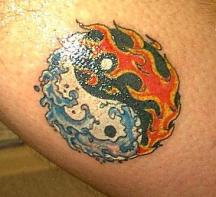 Ying and Yang tattoo